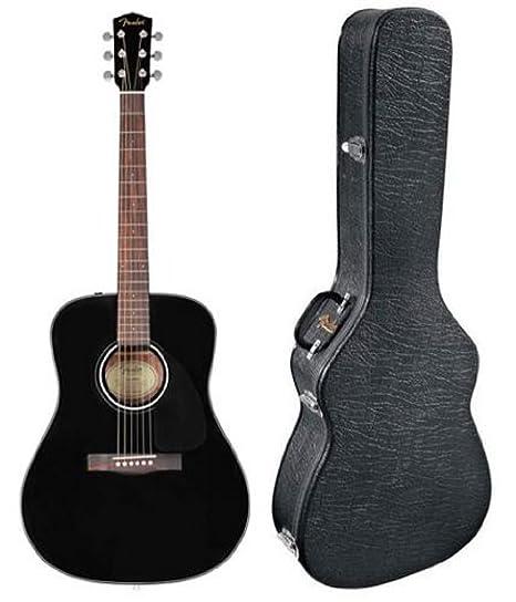 Fender CD-60 funda de guitarra acústica con carcasa rígida de ...