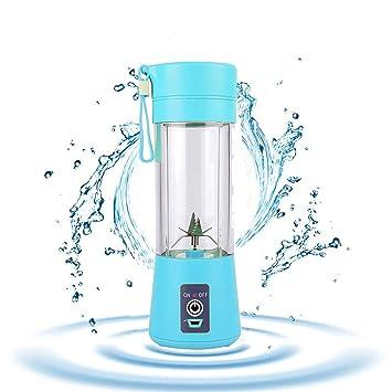 AZX Mini Exprimidor Eléctrico, Batidora Portátil Mini Mixer, Licuado de Frutas Eléctrico, Botella del Jugo 380 ml, Taza de Agua con la Batería de Litio ...