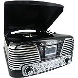 BigBen TD79NM - Tocadiscos (pantalla LCD, 230 V, 50 Hz, USB, 3.5 mm, MP3, AM/FM, tarjeta SD/MMC), color negro (Reacondicionado Certificado)
