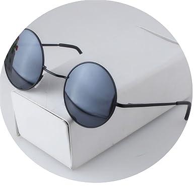 Amazon.com: Gafas de sol redondas de aleación para hombre y ...