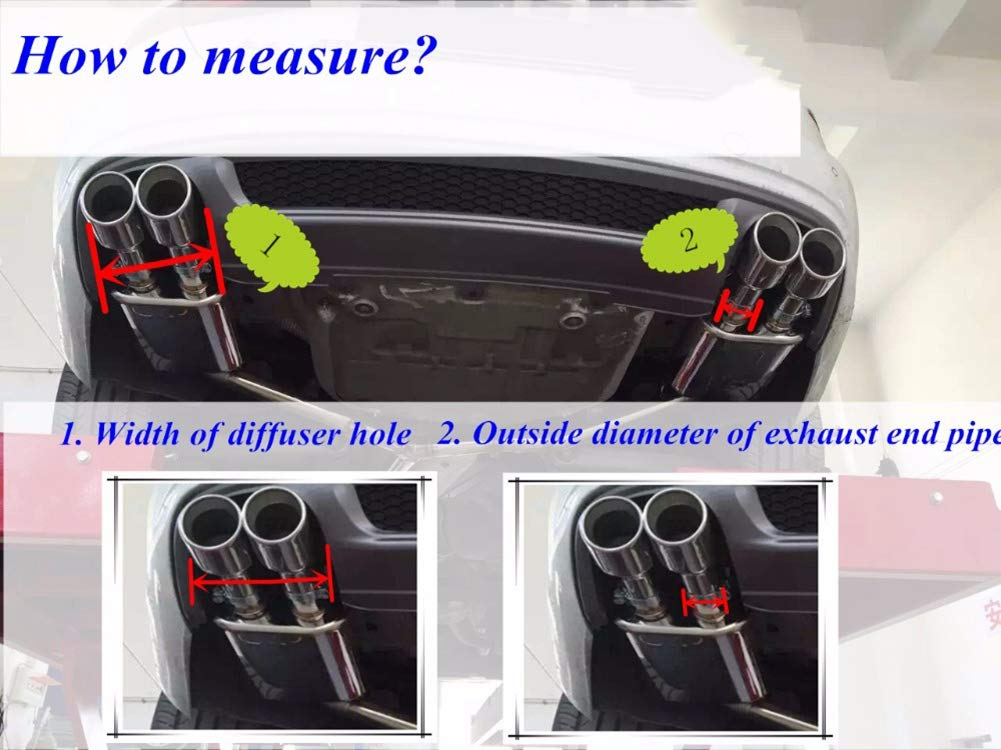 Real Carbon Fiber Exhaust End Pipe Muffler Tip for M2 F87 M3 F80 M4 F82 F83 M5 F10 M6 F12 F13 X5M X6M 70mm inlet