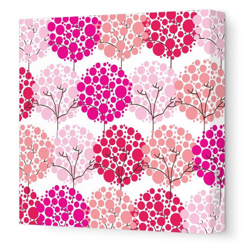 Avalisa Stretched Canvas Nursery Wall Art, Park, Pink Hue