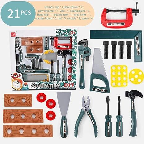 Juego de construcción para niños Kits de herramientas de construcción Caja de herramientas Juego de roles Juguete de taladro eléctrico para niños: Amazon.es: Bebé
