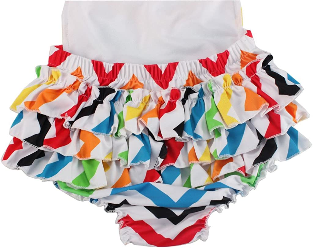 Wave Cotton Floral Ruffles Baby Girl Costumes Rompers Dress with Headband