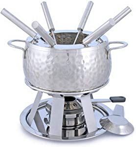 Swissmar 11-Piece Bienne Meat Fondue Set, Stainless Steel