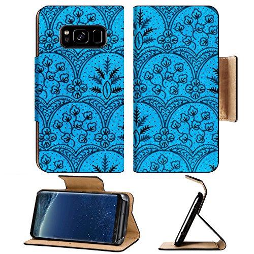 Luxlady Premium Samsung Galaxy S8 Plus S8+ Flip Pu Leather Wallet Case IMAGE ID: 40582740 The beautiful of art Malaysian and Indonesian Batik Pattern
