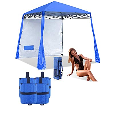 ABCCANOPY Pop-Up Canopy Tent Comapct and Lightweight Beach Canopy Slant Leg Backpack Canopy, Royal Blue, Bonus 4 Weight Bags : Garden & Outdoor