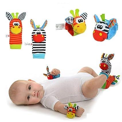 Forepin® Sonajeros Juguete para Bebés Mano Sonajeros Niños Peluches Suave Animales Rattles Toys Muñeca y