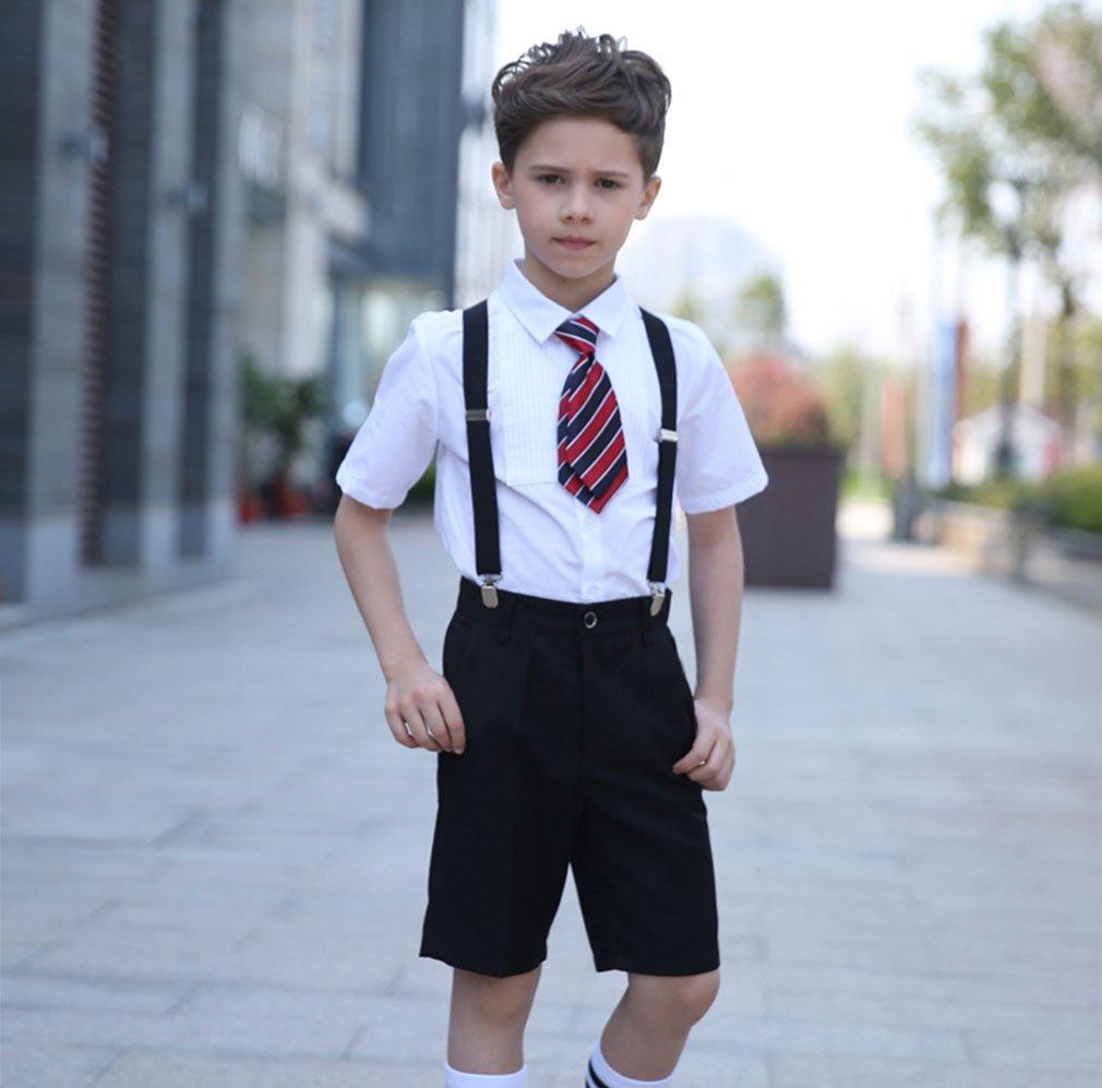 Livingston Adjustable Elastic Suspenders for Children Boys Kids, Assorted Colors