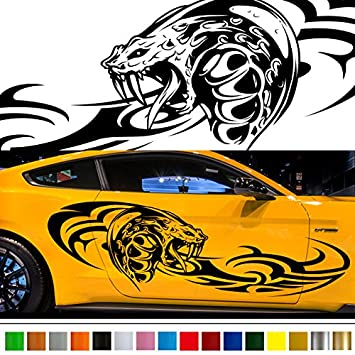 Amazoncom Cobra Tribal Car Sticker Car Vinyl Side Graphics - Car sticker decals custom