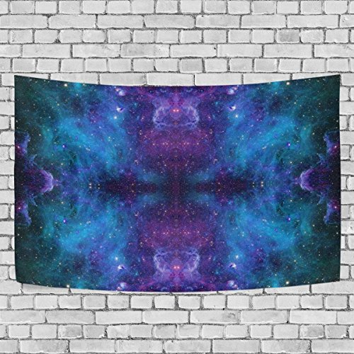 PULAN Cosmos Universe Space Blue Galaxy Indian Mandala,Tapestry Wall Hanging Light-weight Polyester Fabric Cottage Dorm Wall Art Home Decoration 60x40 (Cosmo Cottage)