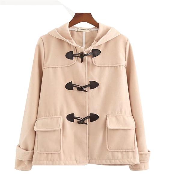 COCO clothing Donna Lana con Cappuccio Giacche Invernali