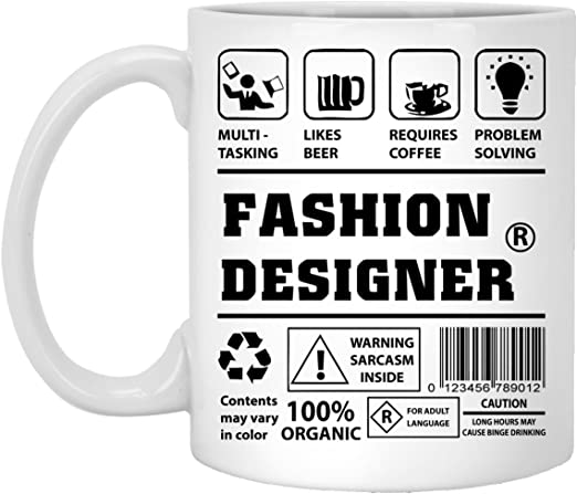 Amazon Com Custom Mug For Fashion Designer Multi Tasking Like Beer Require Coffee Problem Solving Fashion Designer Funny Gift For Wife On Weding Aniversary White 11oz Ceramic Cup Kitchen Dining