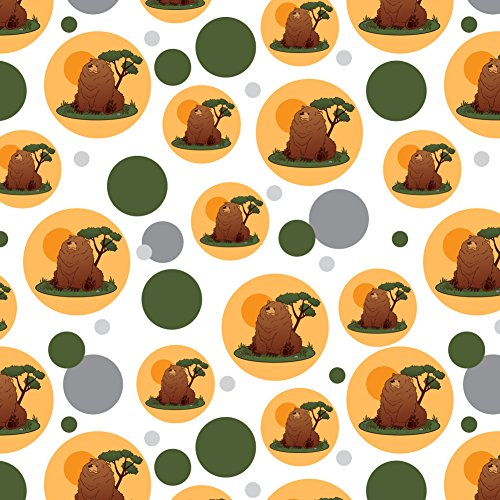 GRAPHICS & MORE Chubby Grizzly Bear Premium Gift Wrap Wrapping Paper Roll