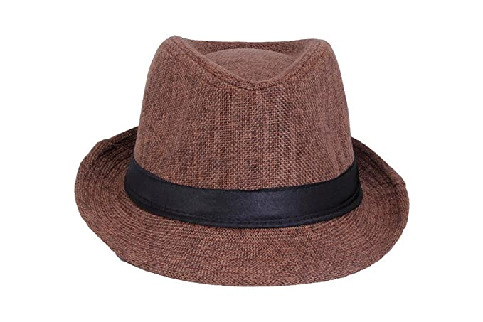 460e2c99d0b5dd Zacharias Mens & Women Fedora Hat (Brown): Amazon.in: Clothing ...
