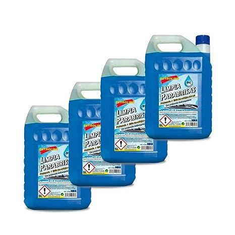Petroline LIMPIAPARABRISAS PERFUMADO 9ºC 5 litros Pack 4 Botellas