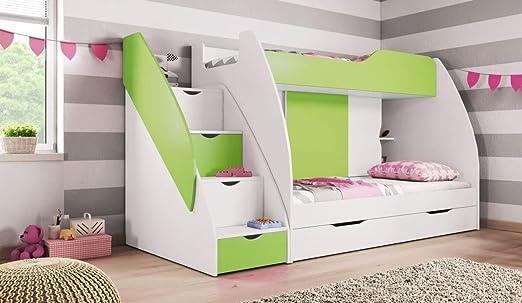 Etagenbett Quba 3 : Doppelstockbett etagenbett doppelbett kinderbett hochbett mit