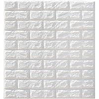 GARNECK 5 Stuks Foam Bakstenen Muur Panelen Schil En Stok Behang Lijm Geweven Baksteen Tegels Voor Woonkamer Slaapkamer…