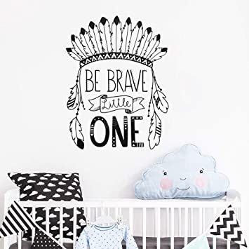 Be Brave Little One tatuajes de pared cita tribal Nursery vinilo ...