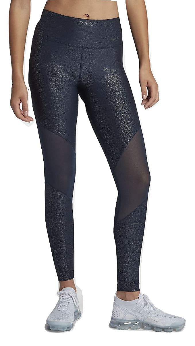 d3bcebeddf Amazon.com: Nike Women's Power Women's Victory Sparkle Mid-Rise Training  Tights: Clothing
