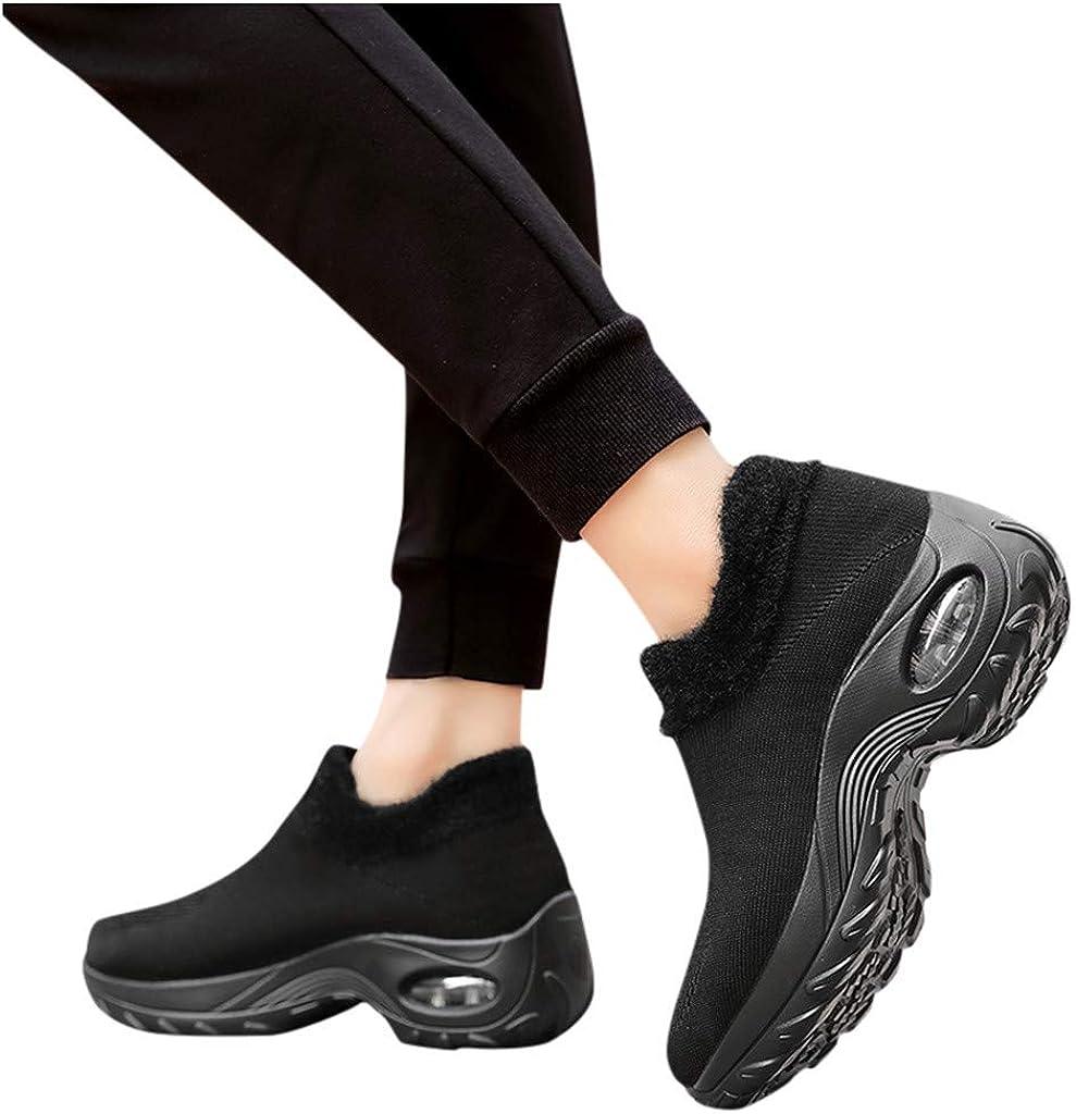 Women Thick Bottom Mesh Shoes,Frunalte Platform Buffer Cushion Sneakers Fashion Students Shoes Rocking Shoes