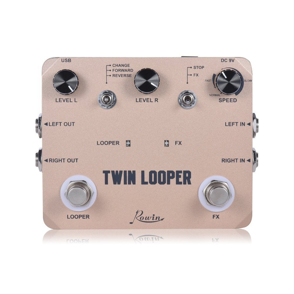 Rowin Tiny Looper Effects Pedals for Guitar 10 Minutes of Looping Unlimited Overdubs LN-332