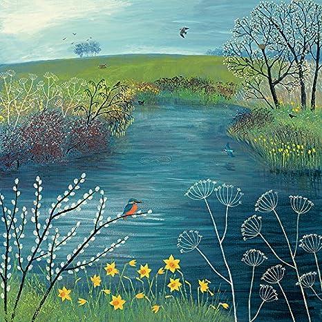 "Multi-colour Jo Grundy /""sea Breeze/"" Canvas Print Cotton 3.20 x 40.00 x 50.00"