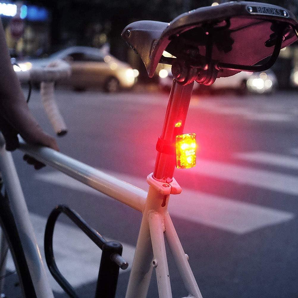 HEREB Accessoires Velo,Multifonctionnel Feu arri/ère de v/élo USB Recharge 5 Modes S/écurit/é Avertissement Lumi/ère Cyclisme Accessoire