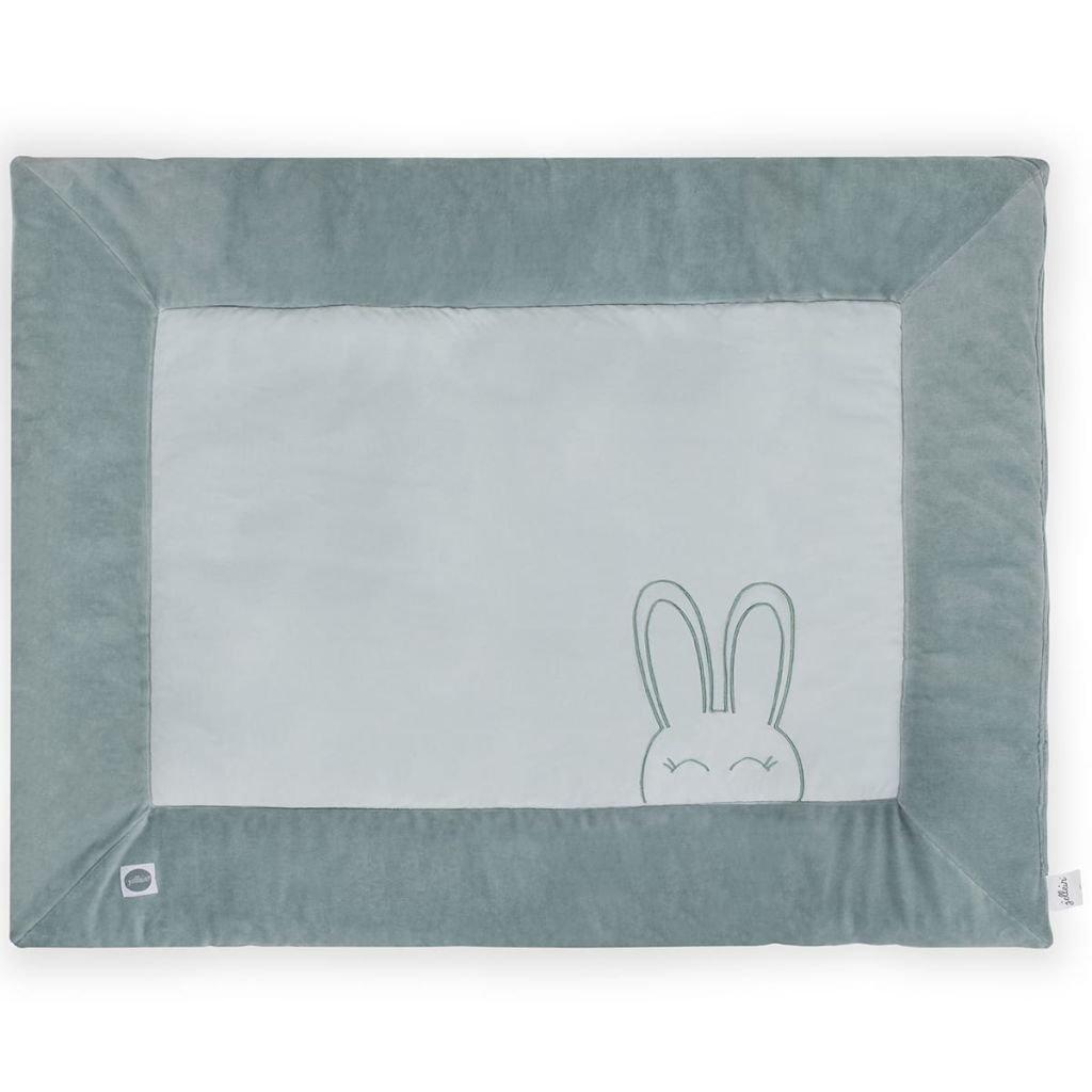 Jollein Laufgitter-Matratze Laufstall 80x100 cm Sweet Bunny Grü n 017-513-65097