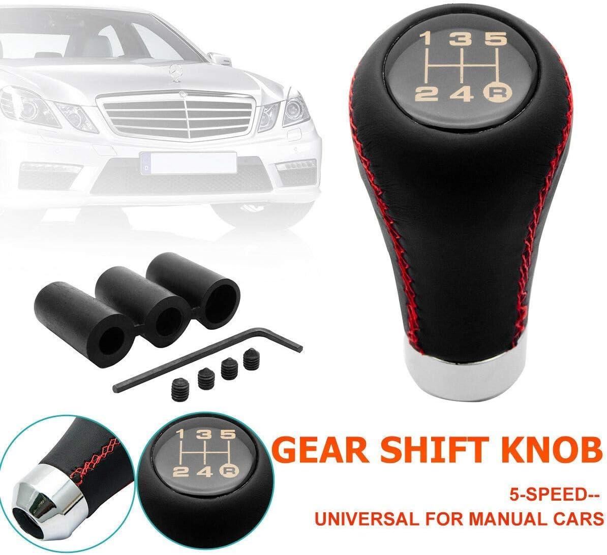 MACHSWON 5 Speed Leather Universal Gear Shift Knob Manual Car ...