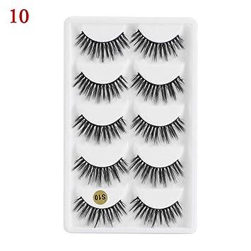 3e3f087f6d5 5 Pairs Eye Makeup Natural Handmade Fluffy 3D Faux Mink Hair False Eyelashes  Crisscross Eye Lash