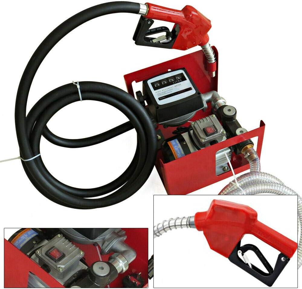 Dieselpumpe mit Filter DP60L selbstansaugend mit Z/ählwerk Filteranlage 550W 3BAR mit Zapfpistole mit Schl/äuchen