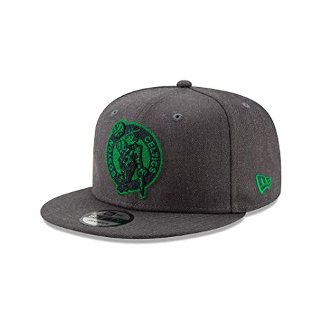 d87fdf25c7f Image Unavailable. Image not available for. Color  New Era Boston Celtics  Graphite Heather Crisp 9FIFTY Snapback Adjustable Hat Cap