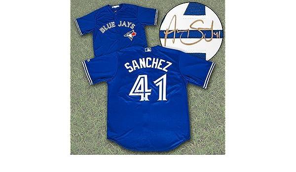 brand new 78c77 627b9 Aaron Sanchez Toronto Blue Jays Autographed Replica MLB ...