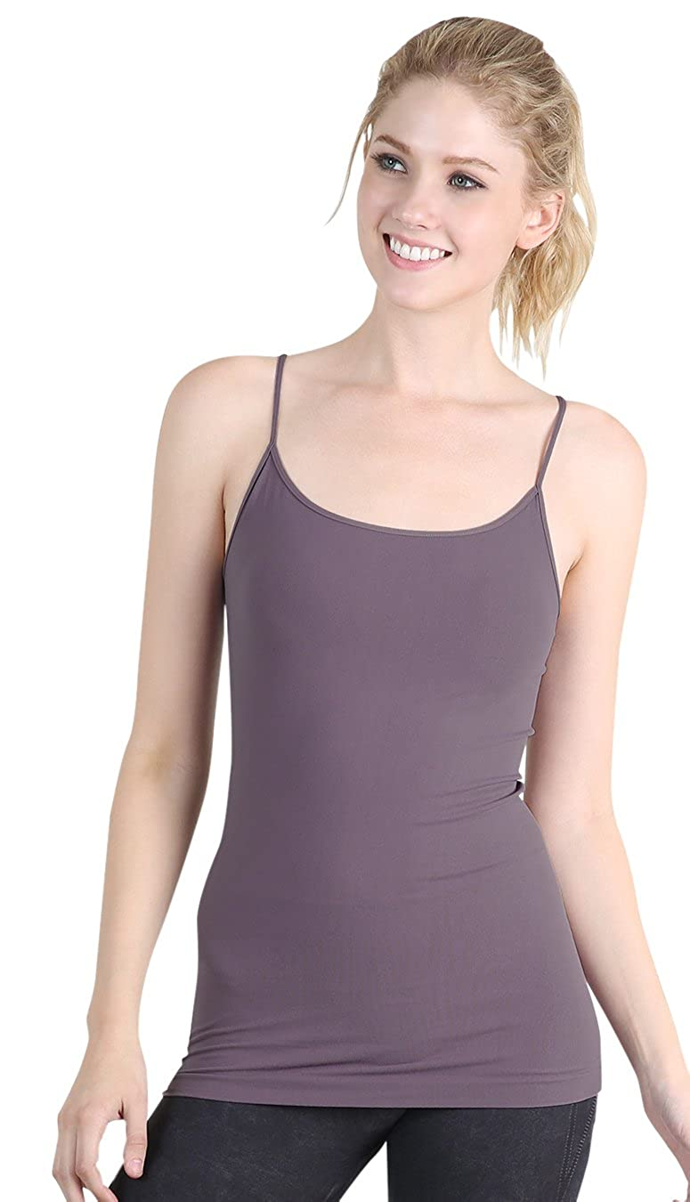 Nikibiki Women's Seamless Premium Classic Camisole, Made in U.S.A, One Size