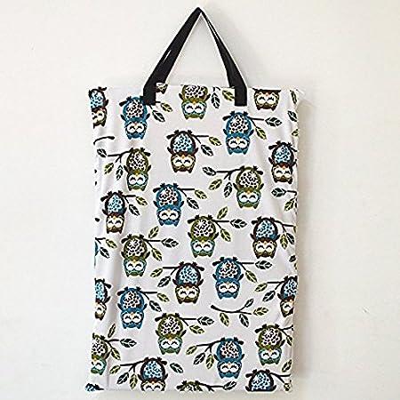 Bolsa de pa/ñales grande para colgar pa/ñales h/úmedos//secos para pa/ñales reutilizables o ropa sucia Blue Flower