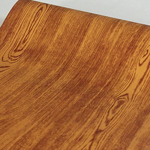 SimpleLife4U Wood Grain Removable Wallpaper Peel and Stick Contact Paper Covering Game Recreation Room Furniture 32.8 Feet by 17.7 Inch