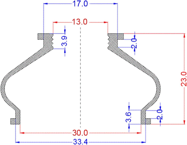Lot de 6 protections en caoutchouc de haute qualit/é pour rotule de direction 13 30 23