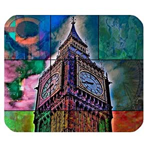 Generic Personalized Graffiti Style London Big Ben for Rectangle Mouse Pad by supermalls