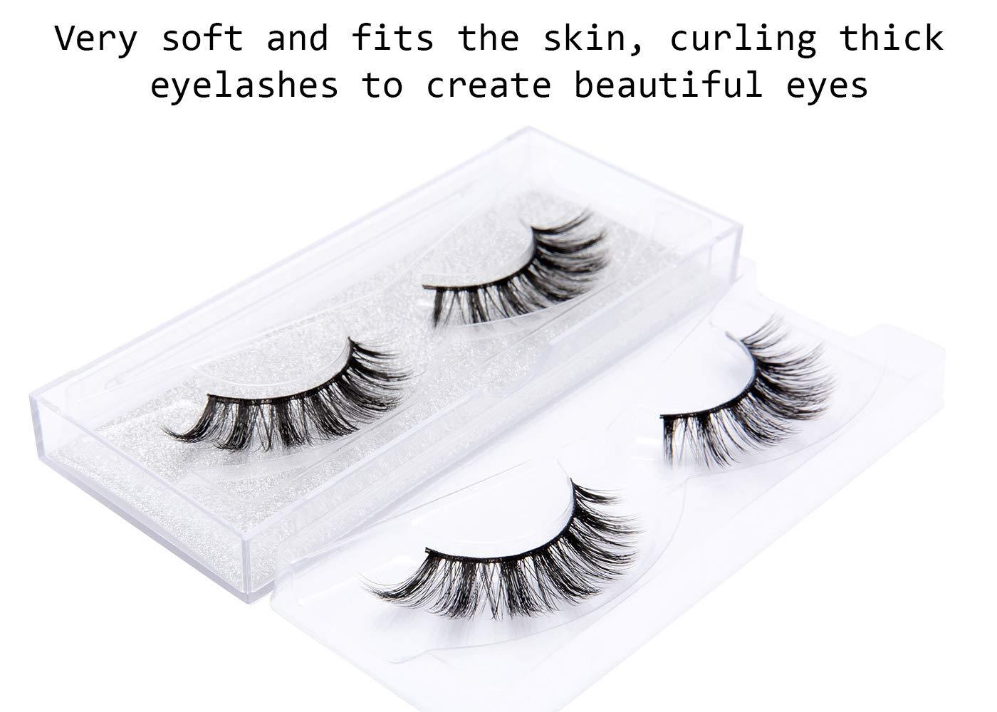DYSILK 3D Eyelashes Extension Handmade False Eyelashes Makeup Long Eyelashes Black Nature Fake Eyelashes Fluffy Soft Reusable 5 Pairs