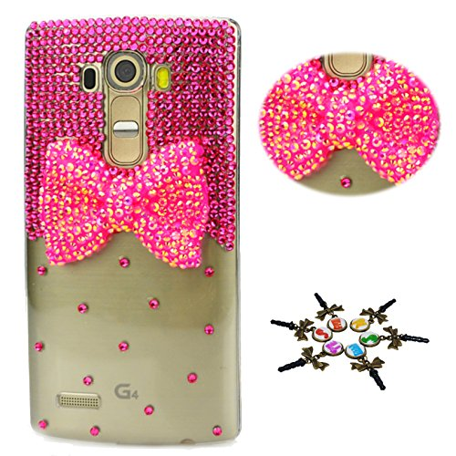 STENES LG Tribute Dynasty Case - STYLISH - 100+ Bling - 3D Handmade Bowknot Design Protective Case for LG Tribute Dynasty - Hot (Dynasty Sweet)
