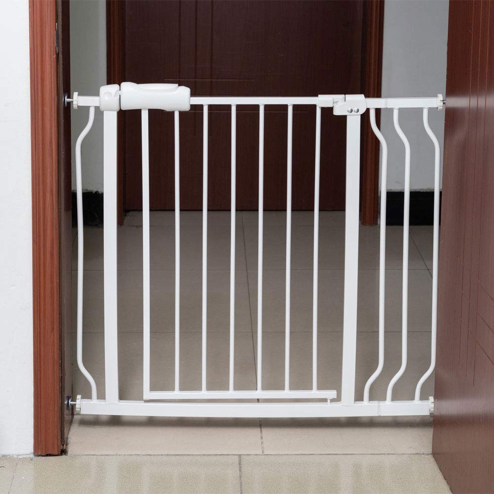 Two Way Auto Close Safety Baby Gate, Extra Tall and Wide Child Gate, Easy Walk Thru Durability Dog Gate for The House, Stairs, Doorways. (B (34.25-38.25)'')