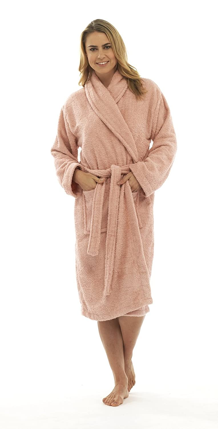 Hari Deals Ladies Pure 100% Cotton Luxury Towelling Bath Robes Dressing Gowns