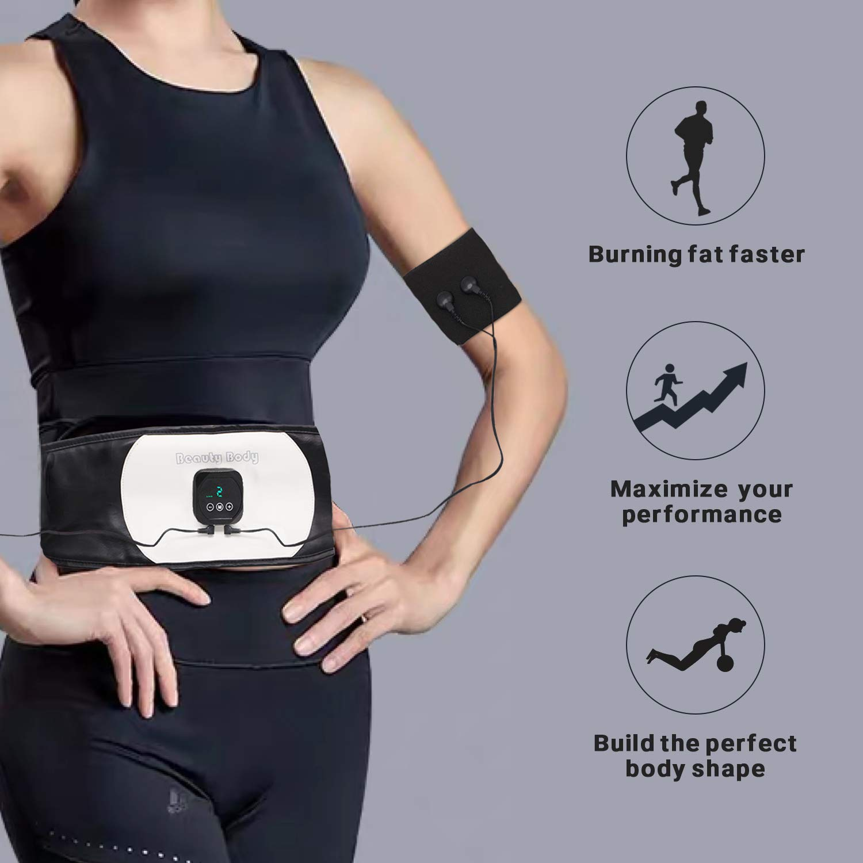 Nitoer Abs Trainer,EMS Abdominal Muscle Stimulator,EMS Muscle Stimulator USB Rechargeable,Abdominal Toning Belts,ABS Machine Ab Belt Toning Gym Workout Machine For Men /& Women