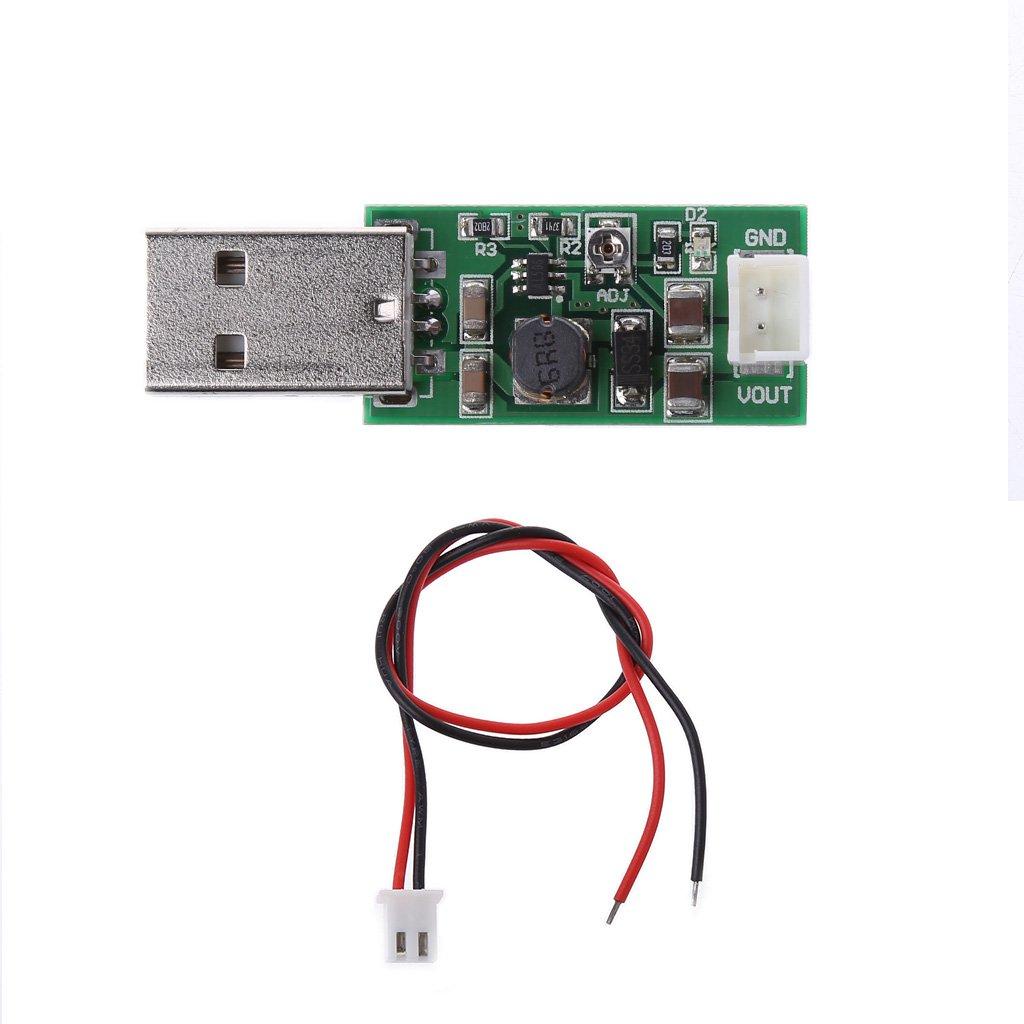 LIYUDL 7W USB DC 5V To 6V 9V 12V 15V Adjustable Output DC Converter Step Up Boost Module