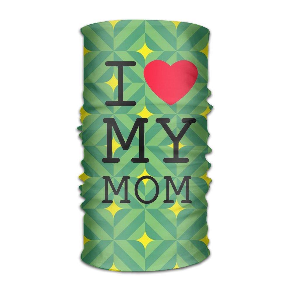 Love My Mom 16-in-1 Magic Scarf,Face Mask,fishing Mask,Thin Ski Mask,Neck Warmer Balaclava Bandana
