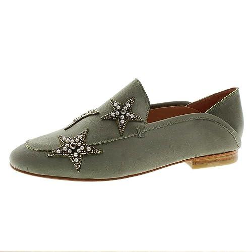 Zapatos Mujer Mocasines Naúticos Lola Cruz 194z85bk Kaki 36