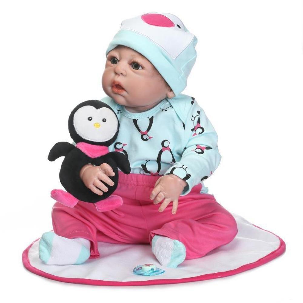 QXMEI Reborn Baby Recién Nacido Realike Doll Hecho A Mano De Silicona Realista 57 Cm