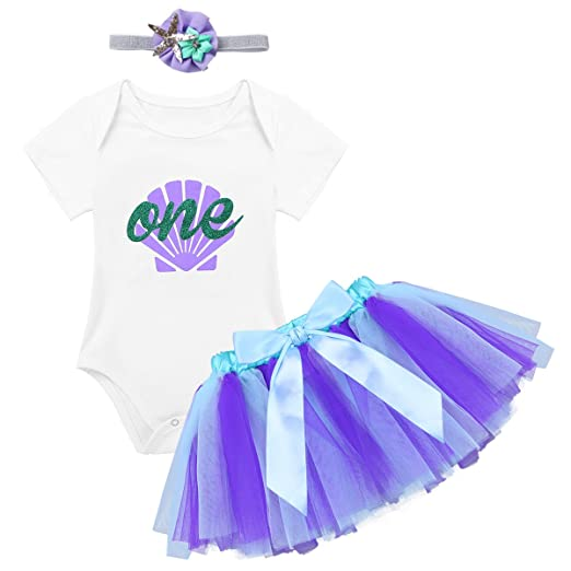 ce1cc3261 Amazon.com  iiniim Baby Girls Mermaid Shell 1st Birthday Outfit ...