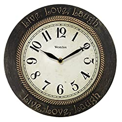 Westclox 11 in. Live Love Laugh Wall Clock